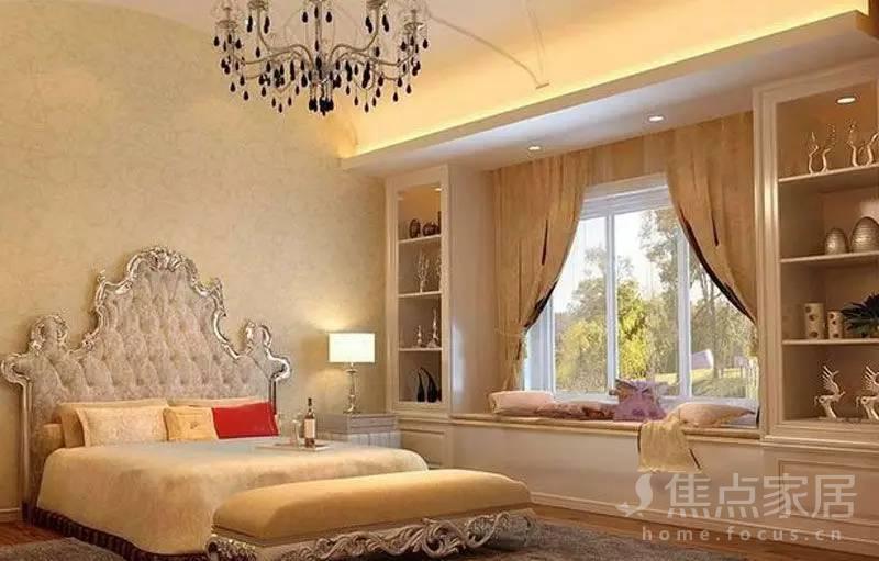 主臥室飄窗裝修設計效果圖,私人專屬巧致生活