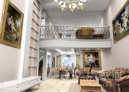 掌握装修要领 让我们的复式挑高客厅更有品味图片