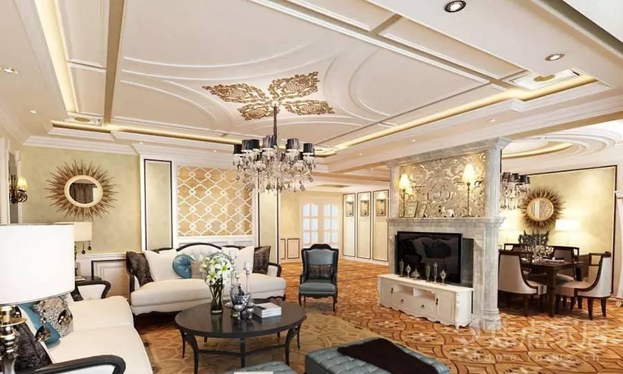 除了欧式惯用的白色木纹材质外,还采用玻璃,镜子等现代材料,大大提升
